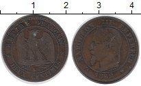 Изображение Монеты Франция 2 сантима 1862 Бронза VF