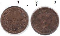 Изображение Монеты Франция 1 сентим 1912 Бронза VF