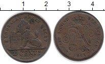 Изображение Монеты Бельгия 2 сентима 1911 Бронза XF