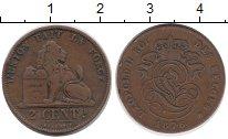 Изображение Монеты Бельгия 2 сентима 1876 Бронза XF