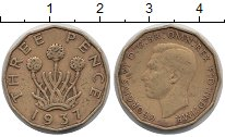 Изображение Монеты Великобритания 3 пенса 1937 Латунь XF