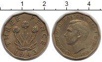 Изображение Монеты Великобритания 3 пенса 1943 Латунь XF Георг VI