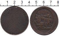 Изображение Монеты Франция 5 соль 1792 Бронза VF-
