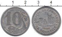 Изображение Монеты Франция 10 сантимов 1922 Алюминий VF Токен г.Ла-Рошель.