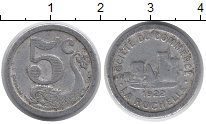 Изображение Монеты Франция 5 сантим 1922 Алюминий VF