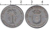 Изображение Монеты Руанда 1 франк 1959 Алюминий VF