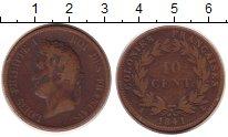 Изображение Монеты Мартиника 10 сантимов 1841 Бронза VF Луи  Филипп I.  Коло