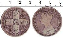 Изображение Монеты Великобритания 1 флорин 1874 Серебро VF Королева  Виктория.