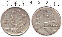Изображение Монеты Куба 1 песо 1935 Серебро VF