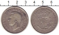 Изображение Монеты ЮАР 2 1/2 шиллинга 1940 Серебро VF
