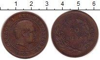 Изображение Монеты Португалия 20 рейсов 1892 Бронза VF