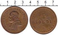 Изображение Монеты Ватикан 4 сольдо 1866 Медь XF-