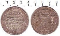 Изображение Монеты Бразилия 960 рейс 1814 Серебро XF- Португальская колони
