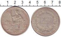 Изображение Монеты Индокитай 1 пиастр 1909 Серебро XF Французский протекто