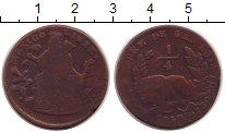Изображение Монеты Мексика 1/4 реала 1859 Бронза VF