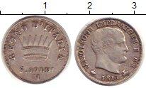 Изображение Монеты Италия 5 сольди 1813 Серебро VF Император Наполеон