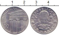 Изображение Монеты Сан-Марино 10 лир 1997 Алюминий XF Архитектура