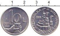 Изображение Монеты Сан-Марино 10 лир 1991 Алюминий
