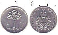 Изображение Монеты Сан-Марино 1 лира 1987 Алюминий XF
