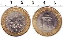 Изображение Монеты Ватикан 1000 лир 2000 Биметалл XF