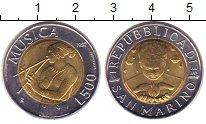 Изображение Монеты Сан-Марино 500 лир 1997 Биметалл XF