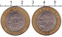 Изображение Монеты Ватикан 1000 лир 1998 Биметалл XF