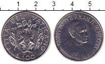 Изображение Монеты Ватикан 100 лир 1989 Медно-никель XF