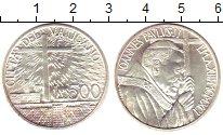 Изображение Монеты Ватикан 500 лир 1991 Серебро UNC