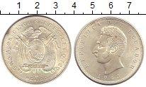 Изображение Монеты Эквадор 5 сукре 1943 Серебро XF