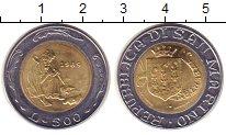 Изображение Монеты Сан-Марино 500 лир 1989 Биметалл UNC- Зодчий