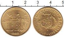 Изображение Монеты Сан-Марино 200 лир 1989 Медь UNC- Образ Сан-Марино