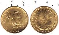 Изображение Монеты Сан-Марино 200 лир 1997 Медь UNC-