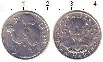 Изображение Монеты Сан-Марино 5 лир 1997 Алюминий UNC-