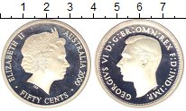Изображение Монеты Австралия 50 центов 2000 Серебро Proof Елизавета II.  Памят
