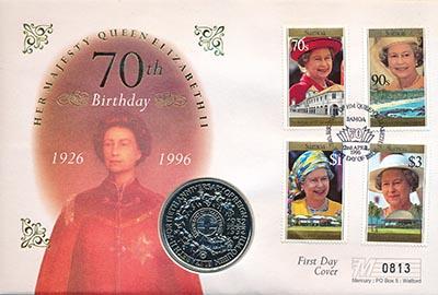 Изображение Подарочные монеты Самоа 1 доллар 1992 Медно-никель UNC Монета номиналом 1 д