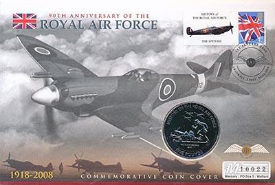 Изображение Подарочные монеты Гернси 5 фунтов 2008 Медно-никель UNC `Монета номиналом 5