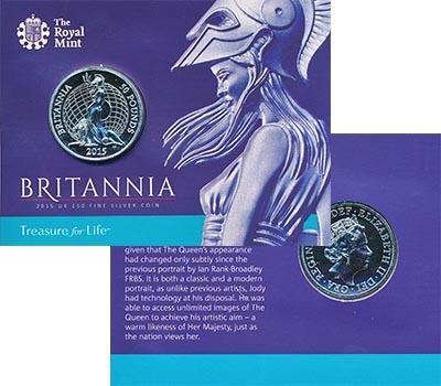 Изображение Подарочные монеты Великобритания Британния 2015 Серебро BUNC