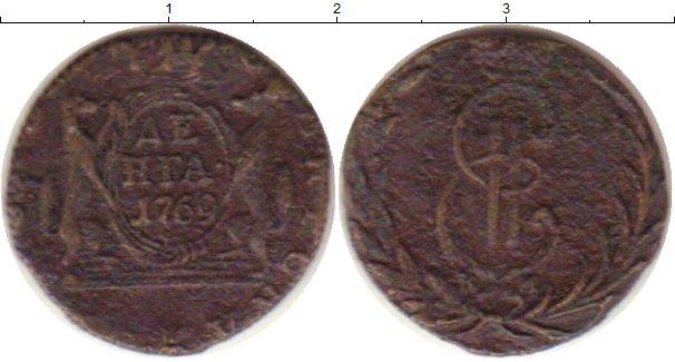 Картинка Монеты 1762 – 1796 Екатерина II 1 деньга Медь 1769