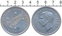 Изображение Монеты Новая Зеландия 1 крона 1949 Серебро XF+