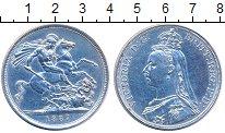 Изображение Монеты Великобритания 1 крона 1887 Серебро XF