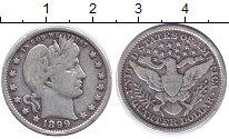 Изображение Монеты США 1/4 доллара 1899 Серебро XF- Свобода.