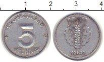 Изображение Монеты ГДР 5 пфеннигов 1949 Алюминий VF