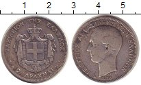 Изображение Монеты Греция 2 драхмы 1873 Серебро VF Георг I
