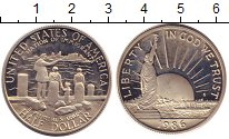 Изображение Монеты США 1/2 доллара 1986 Медно-никель Proof-