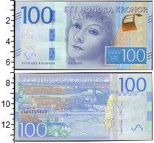 Изображение Боны Швеция 100 крон 2016  UNC