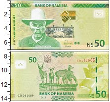 Изображение Банкноты Намибия 50 долларов 2016  UNC