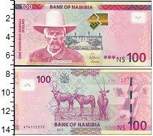 Изображение Боны Намибия 100 долларов 2012  UNC