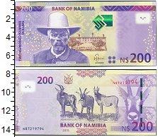 Изображение Боны Намибия 200 долларов 2015  UNC