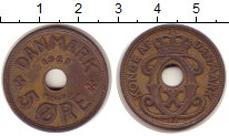Изображение Монеты Дания 5 эре 1927 Бронза XF