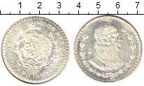 Изображение Монеты Мексика 1 песо 1967 Серебро UNC